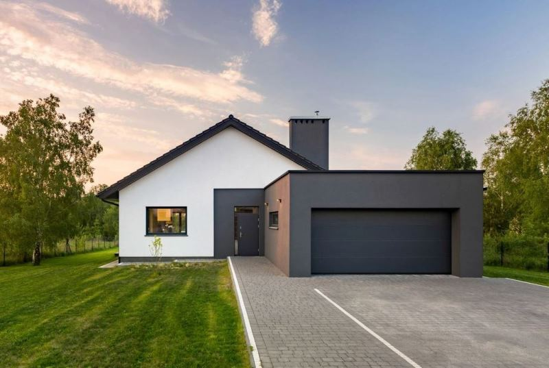 Home with a garage